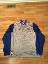01f314d5a49 Detroit Pistons NBA Authentic Adidas Game Issued Alt Chrome Warm Up Jacket  3XL2