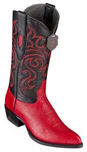 Men's Los Altos Genuine Smooth Ostrich Cowboy Western Boots J Toe