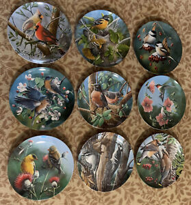 Encyclopedia Britannica Birds of Your Garden Collection By Kevin Daniel 9 Plates