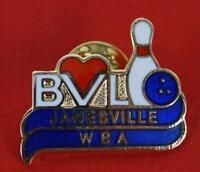 Vintage Bowling Janesville WBA Pin Pinback