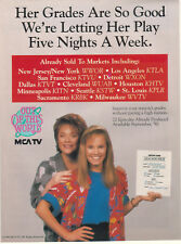 Maureen Flannigan Donna Pescow Out Of This World 1989 Ad- five nights a week/MCA