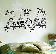 Wall Decal Tree Branch Owl Birds Vinyl Sticker (z3648)