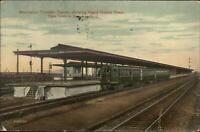Newark NJ Manhattan Transfer Station RR Train 1913 Used Postcard