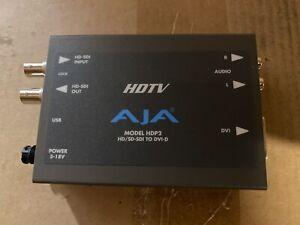 AJA HDP2 HD/SD-SDI to DVI-D Converter w/ power supply