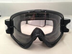 Oakley O Frame MX Goggles Jet Black Motorcycle Goggles