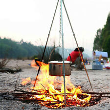 Outdoor Camping Picnic Cooking Tripod Hanging Pot Campfire Grill Stand 7279HC