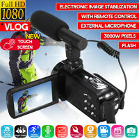 Video Digital Camera Camcorder Vlogging Full HD 1080P 18X Touch YouTube