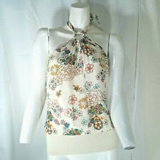 To The Max Womens Multicolored Floral Halter Size Large