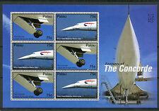 Palau 2006 MNH Concorde Features 6v M/S Aviation Passenger Jet Planes Stamps