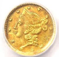 1853 Liberty California Gold Half Dollar 50C BG-417 R5. PCGS UNC (MS). Rarity-5+