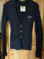 Hollister Dark Blue Knitted Cardigan XS