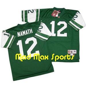 JOE NAMATH New York NY JETS Home Green NFL REEBOK Throwback LEGACY Jersey M-L