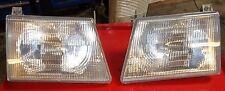 03 04 05 06 FORD E150 E250 E350 E450 OEM HEADLIGHTS HEAD LAMPS LENS BOTH SIDES !