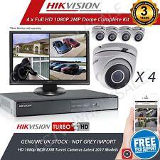 HIKVISION 4Ch Dvr & 4x HD TVI 1080p Camera's HD CCTV Camera System, 1 TB HDD