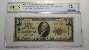 $10 1929 Salyersville Kentucky KY National Currency Bank Note Bill Ch. #8905 F12
