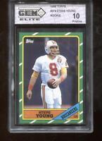 Steve Young RC 1986 Topps #374 49ers HOF Rookie GEM Elite 10 Pristine