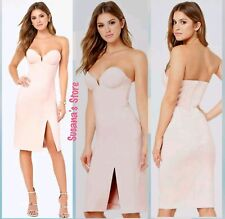 NWT bebe Lola Strapless Dress SIZE L Sculpted sexy sweetheart bodice $148