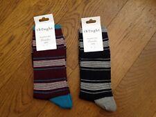 Men's Socks - Thought - Edoardo Stripe Socks - 2 Pairs