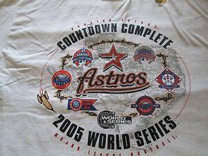 Houston Astros T-Shirts 2005 World Series White Large Vintage T-Shirt Majestic