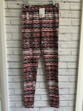 H&M Divided Size S Multicoloured Leggings Cotton Plus Stretch