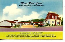 Mena Park Court Motel-Mena-Arkansas-Vinta ge Advertising Postcard