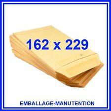 100 ENVELOPPES C5 POCHETTES KRAFT  162 x 229 mm ~ LIVRAISON GRATUITE