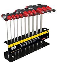 "Klein Tools JTH610E 10PC 6"" SAE Journeyman T-Handle Set & Stand"