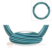 Ice Blue Aluminum Craft Wire Wrapping 12 Gauge Sculpture 39 Ft. Floral Jewelry