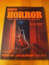 GURPS - HORROR VO - Steve Jackson Games Jeu de Rôle JdR