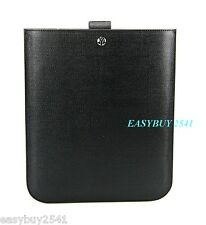 YVES SAINT LAURENT YSL IPAD BLACK LEATHER CASE SLEEVE WITH PULL SYSTEM NEW