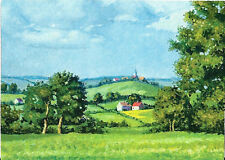 ACEO PRINT OF PAINTING LANDSCAPE RYTA HOUSE FARM IMPRESSIONISM COUNTRY DECOR SUN