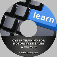 Motorcycle Sales Training - Cyber-Training for Motorcycle Sales eBook on CD