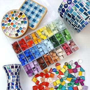 100g Glass Mosaic Tiles 1cm Square Mosaic Craft for Children Kids Mosaic Stones