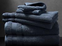 Canningvale Amalfitana 6 Piece Towel Set Pack Hand Face Bath MEZZANOTTE BLUE