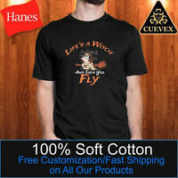 Halloween Witch T-Shirt, Life's a Witch and then you Fly, Men Halloween T-Shirt