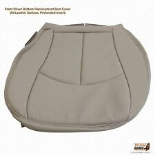 2006-2009 Mercedes-Benz E350 Driver Bottom Perforated Leather Seat Cover Gray