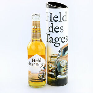 """Bier für dich """"Held des Tages"""" in Geschenkdose zum Vatertag, Geburtstag Männer"""