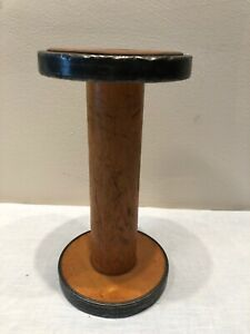 Vintage WOODEN METAL CROMER Bobbin Spool Dumbbell TEXTILE MILLS Primitive #3