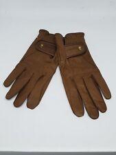 ROECKL Damen Lederhandschuhe Handschuhe Braun Gr.7,5 Neu