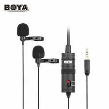 BOYA BY-M1DM Lavalier Lapel Condenser Dual Microphone 3.5mm DSLR Smartphone