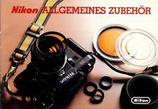 """Broschüre Prospekt Nikon """"Allgemeines zubehör"""" Technische Daten German"""