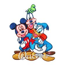 "Mickey Mouse, Goofy, & Donald Duck Patch ""Welcome"" Disney Fans Iron-On Applique"