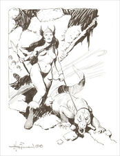 MIKE HOFFMAN FANTASY ART COMMISSION INK DRAWING!  You Choose the Scene!