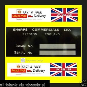SHARPS COMMERCIALS BOND EQUIPE MINI CARS BUG 875 ID ALL-BLANK-VIN-CHASSIS-PLATES