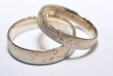 1 Paar Trauringe Eheringe Gold 333, 585 oder 750 - Eismatt - Bicolor - Weiß/Gelb