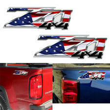 2X Z71 4X4 Racing Decal Sticker For Chevy Colorado GMC Truck SUV Car Door Side