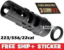 Strike Industries J-COMP V2 Japan 89 Comp Muzzle brake 5.56/22lr/223 1/2x28 TPI