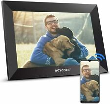 AOYODKG WiFi Digital Photo Frame 10.1 inch Picture Frame with IPS Touch Screen