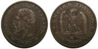 5 centimes Napoléon III 1855 K Bordeaux, ancre