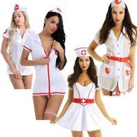 Sexy Women Nurse Doctor Uniform Outfit Costume Halloween Cosplay Fancy Dress